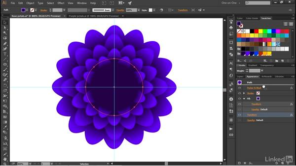 Scale, rotate, and duplicate in one operation: Illustrator CC 2015 One-on-One: Advanced