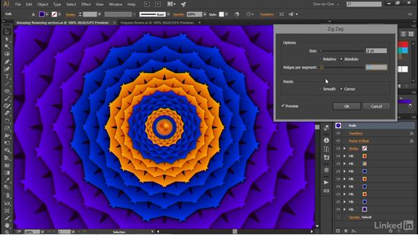 Creating an origami effect with Zig Zag: Illustrator CC 2015 One-on-One: Advanced