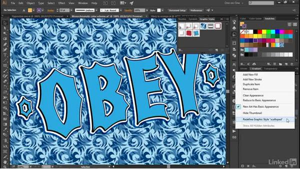 Updating graphic styles: Illustrator CC 2015 One-on-One: Advanced