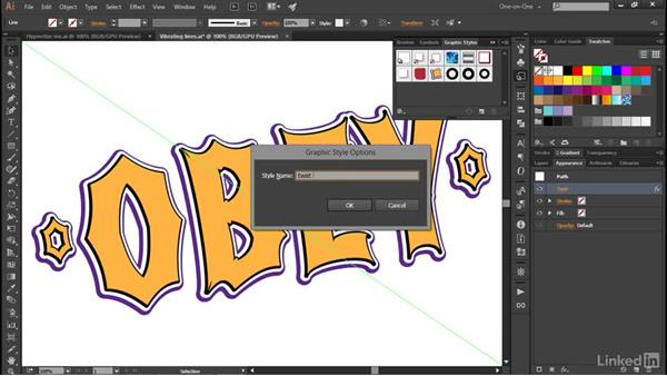 Combining multiple styles: Illustrator CC 2015 One-on-One: Advanced