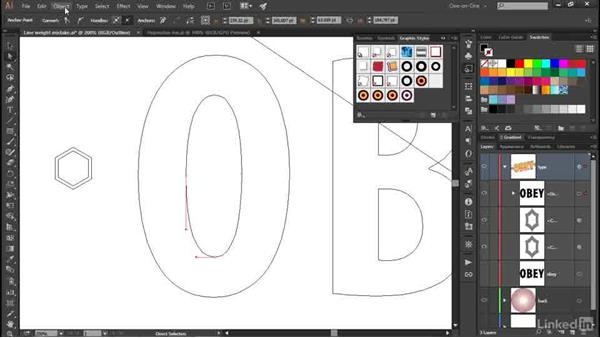 Refining a Pucker & Bloat effect: Illustrator CC 2015 One-on-One: Advanced