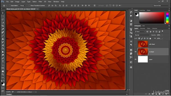 Adding a bleed for borderless printing: Illustrator CC 2015 One-on-One: Advanced