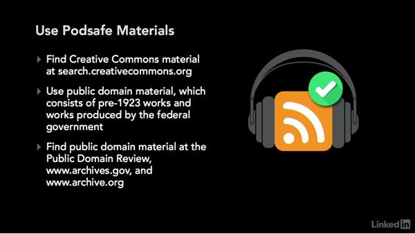 Copyright and fair use: Podcasting: Business and Law