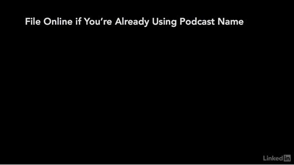 Trademark registration: Podcasting: Business and Law