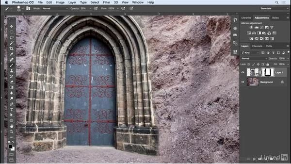 Creating and editing layer masks: Learn Photoshop Compositing: Ten-Minute Techniques