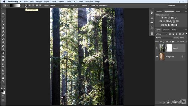 Adding a gradient masks: Learn Photoshop Compositing: Ten-Minute Techniques