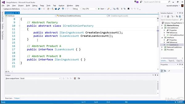 Write Abstract Factory code for Citi: C# Design Patterns