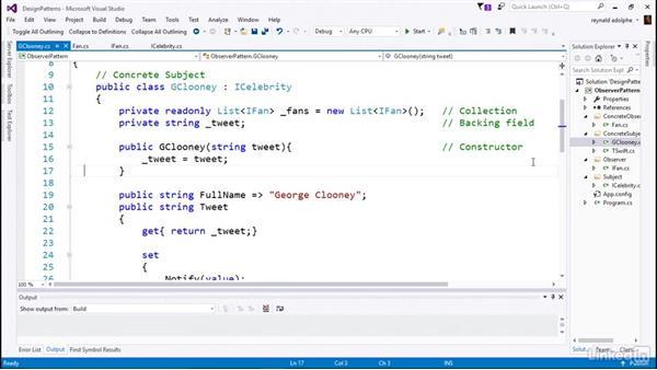 Concrete Subject code: C# Design Patterns