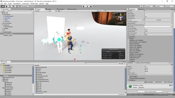Particle Triggers: Unity 5.4: New Features