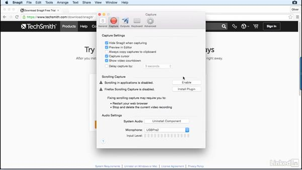 The capture window: Learn Snagit for Mac: The Basics