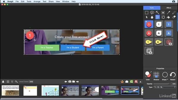 Add Snagit effects: Learn Snagit for Mac: The Basics