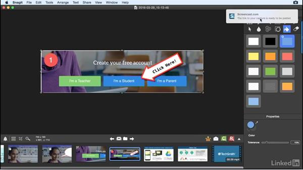 Use screencast.com to organize and share: Learn Snagit for Mac: The Basics