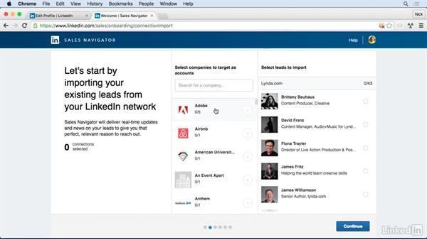 Set up Sales Navigator: Learn LinkedIn Sales Navigator: The Basics