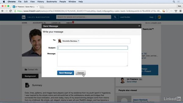 Use Shared Connections to get an introduction: Learn LinkedIn Sales Navigator: The Basics