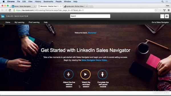 Next Steps: Learn LinkedIn Sales Navigator: The Basics