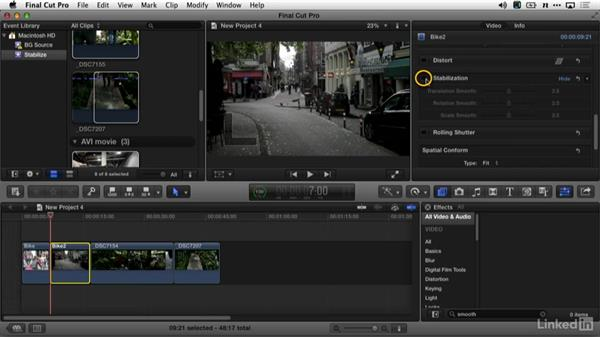 Fixing shaky shooting in Final Cut Pro X: DSLR Video Tips: Gadgets & Gear