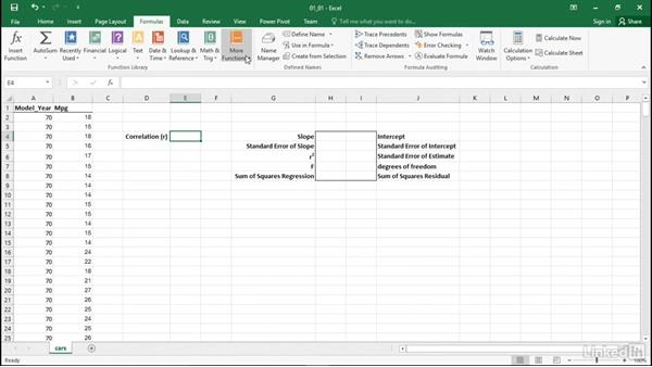 Use Excel statistical functions: Statistics with Excel Part Two