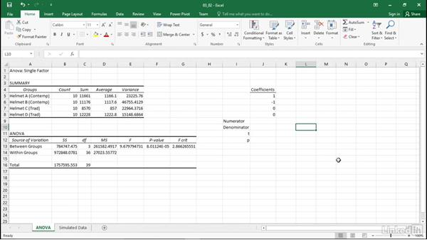 Perform simple comparisons: Statistics with Excel Part Two