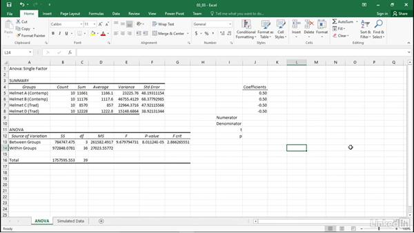 Perform complex comparisons: Statistics with Excel Part Two