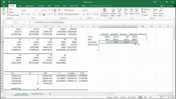 Perform comparisons after two-way ANOVA: Statistics with Excel Part Two