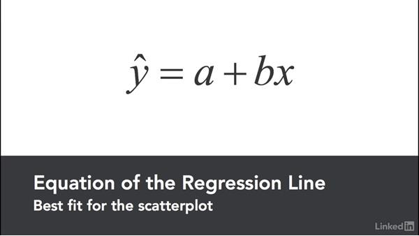 Visualize scatter plot and regression line: Statistics with Excel Part Two