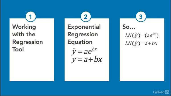 Perform exponential regression analysis: Statistics with Excel Part Two