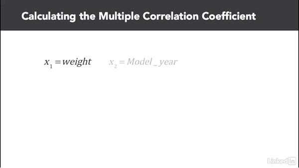 Perform multiple correlation: Statistics with Excel Part Two