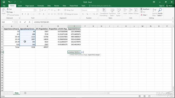 Test goodness of fit: Statistics with Excel Part Two