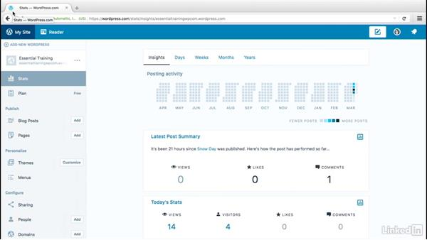Upload a site icon: WordPress.com Essential Training