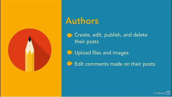 Understand user roles: WordPress.com Essential Training