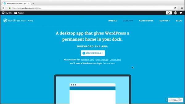 Install the desktop app: WordPress.com Essential Training