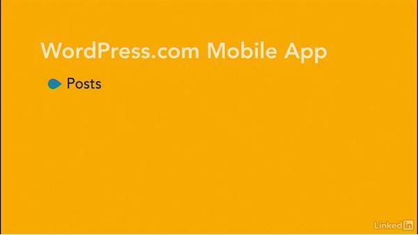Use mobile apps for WordPress: WordPress.com Essential Training