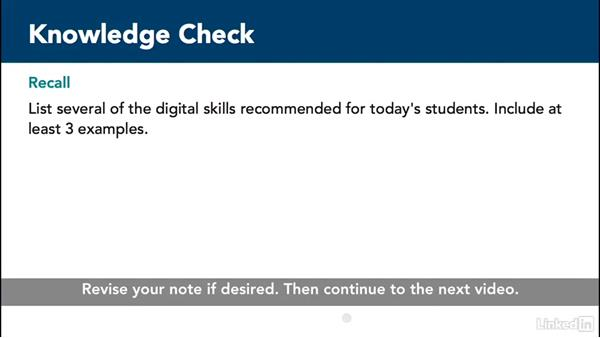 Knowledge check: Teaching with Lynda.com