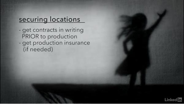 Securing locations: Creating a Short Film: 03 Pre-Production