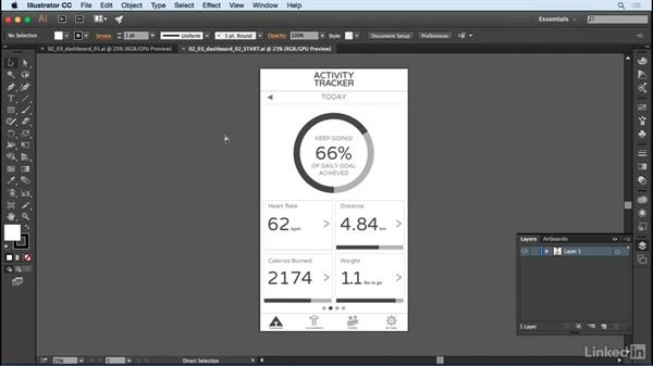 Prepare artwork for After Effects: After Effects: Creating a Mobile App Interface