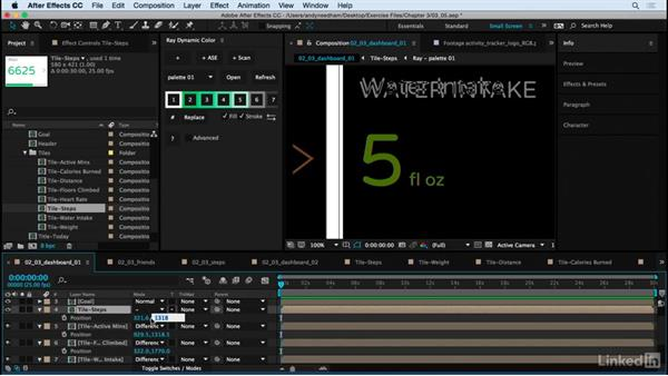 Build the Dashboard screens: After Effects: Creating a Mobile App Interface