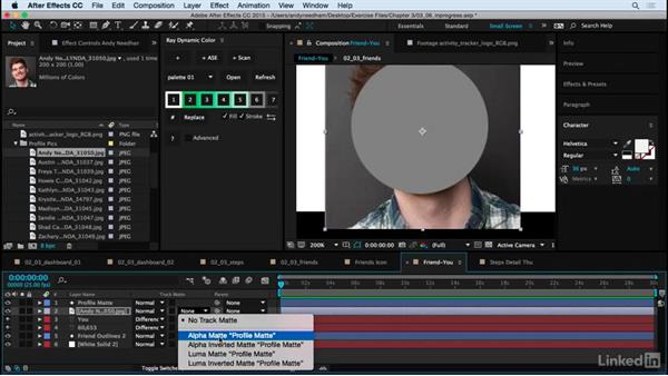 Add final touches to the remaining screens: After Effects: Creating a Mobile App Interface