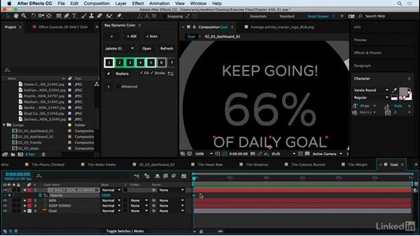 Animate the Dashboard elements: After Effects: Creating a Mobile App Interface