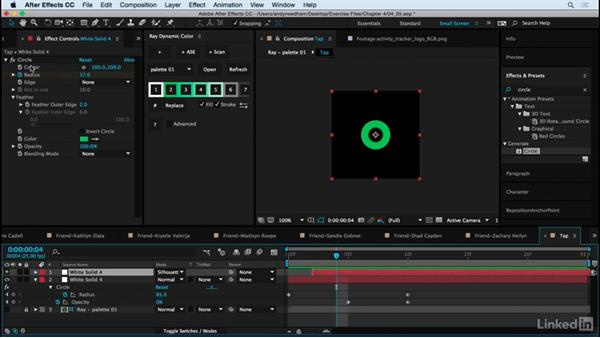 Create tap and swipe animations: After Effects: Creating a Mobile App Interface