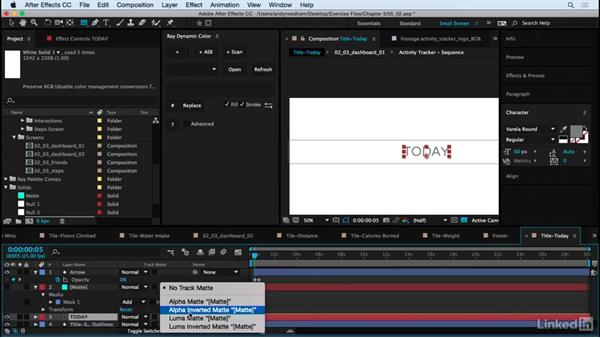 Add finishing details, swipes, and taps: After Effects: Creating a Mobile App Interface