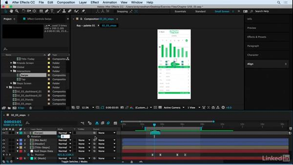 Add the scroll animation: After Effects: Creating a Mobile App Interface