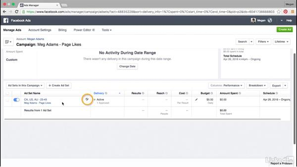 How to manage existing ads and campaigns: Facebook Advertising Fundamentals