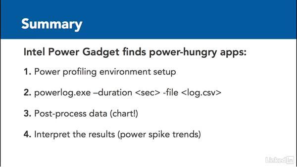 Summary: Optimizing Code with Windows Power Tools