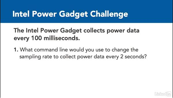 ✓ Challenge: Change sampling rate: Optimizing Code with Windows Power Tools