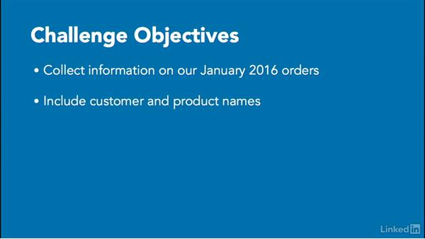 Challenge: Expand order details: Access 2016: Queries in Depth