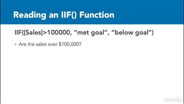 IIf() conditional statement: Access 2016: Queries in Depth