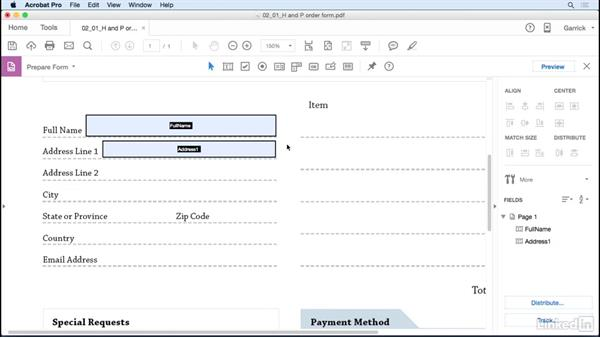 Create text fields: Acrobat DC: Create Forms