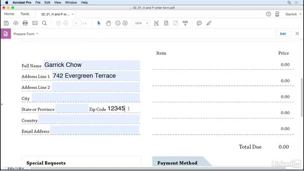 Format text fields: Acrobat DC: Create Forms