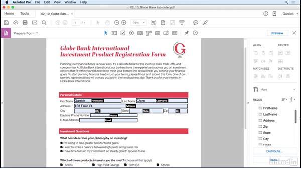 Edit the tab order: Acrobat DC: Create Forms