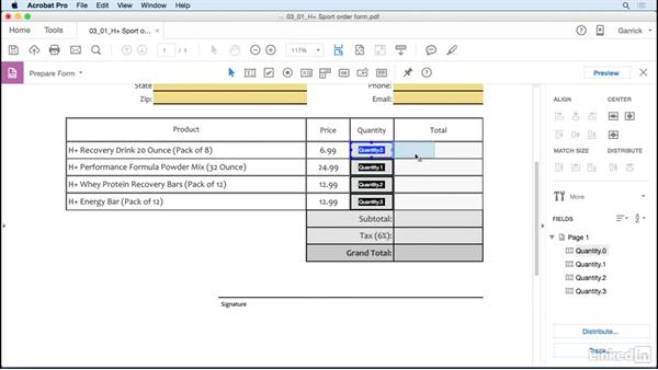 Prepare for field calculations: Acrobat DC: Create Forms